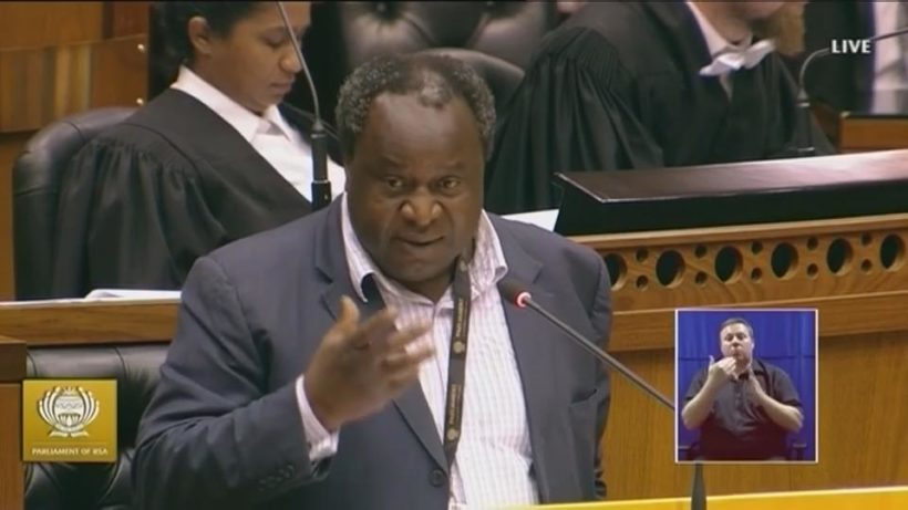 What will the outcome be for finmin Mboweni's MTBPS?