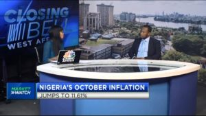 Nigeria's October inflation jumps to 11.61%
