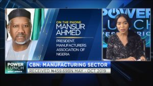 Nigeria's manufacturing sector receives N459.69bn boost