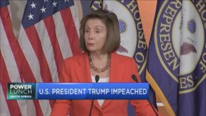 US president Trump impeached by the House on both articles
