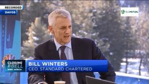 """World Economic Forum: """"Global economy growth below potential"""" –Standard Chartered CEO Bill Winters"""