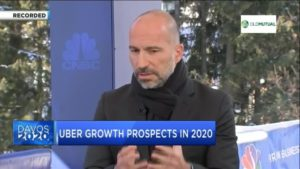 World Economic Forum: UBER CEO Khosrowshahi on company's growth prospects in 2020