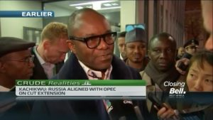 Russia, OPEC aligned on extending output cuts – Nigeria oil minister