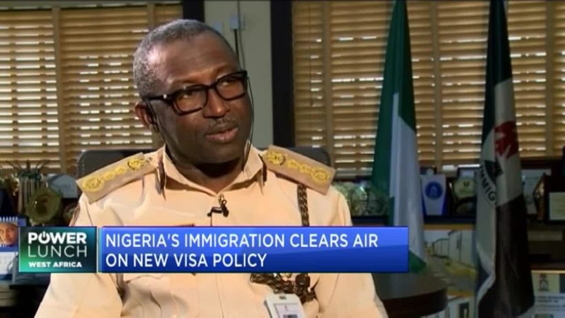Nigeria's Immigration Service clears air on new visa policy
