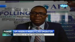 African Polling Institute on why Nigerians are emigrating to Canada