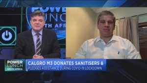 Calgro M3 donates sanitisers to the Fleurhof Community, pledges more support to battle COVID-19