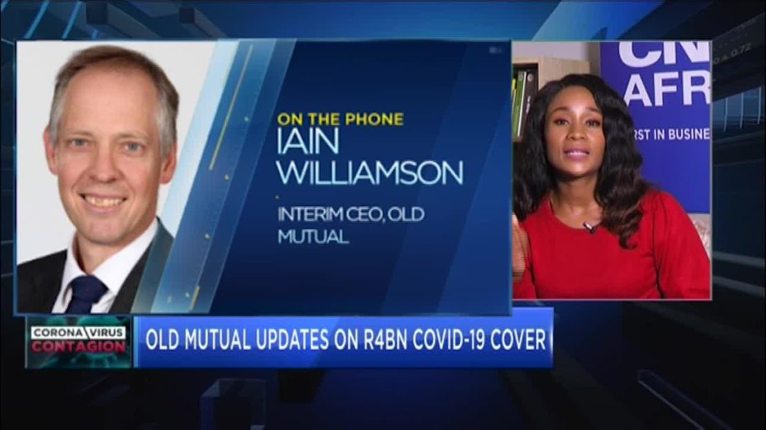 Old Mutual's Iain Williamson gives updates on R4bn COVID-19 cover