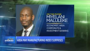 Absa May manufacturing index surprises