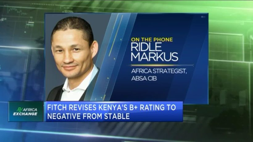 Fitch revises Kenya's B+ rating to negative from stable