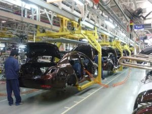 South Africa's manufacturing output falls 49.4% year on year in April