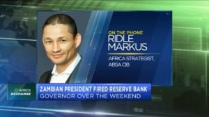 Zambian president fires central bank governor