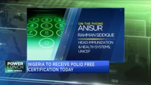 Nigeria to receive polio free certification from the World Health Organisation