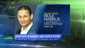 Protests in Nigeria & Cote d'Ivoire threaten to slow economic activity