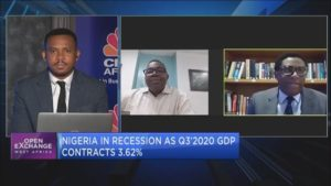 Nigeria slips into recession as GDP contracts by 3.62% in Q3 2020