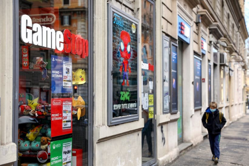 GameStop shares soar more than 100% in late-afternoon trading