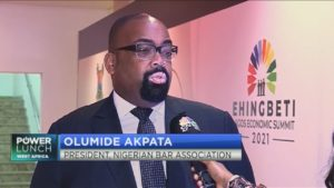 #LagosEconomicSummit2021: Olumide Akpata: NBA more insistent on respect for the rule of law