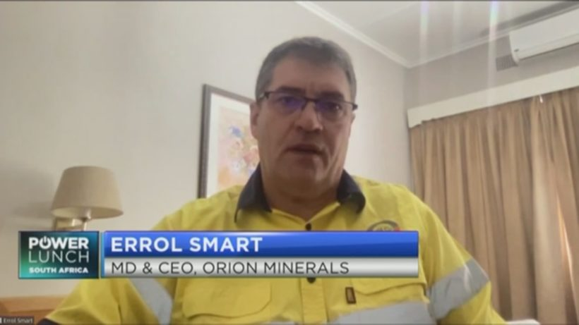 Orion CEO on what's behind the recent protest action at Prieska mine
