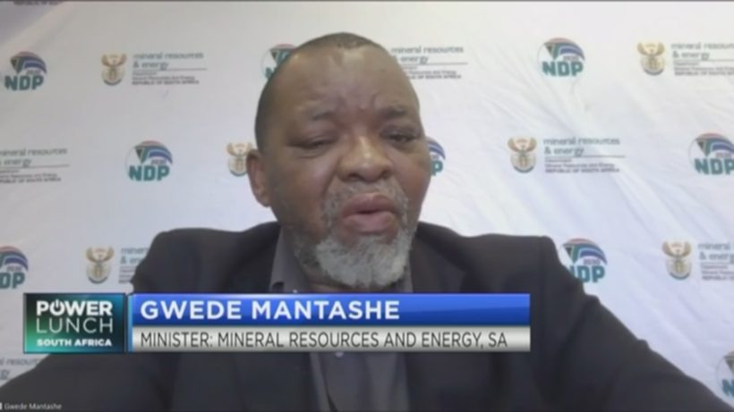 Minister Gwede Mantashe on latest developments in South Africa's energy sector