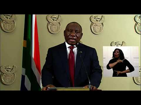 President Ramaphosa addresses nation in the wake of violent looting in parts of KZN and Gauteng